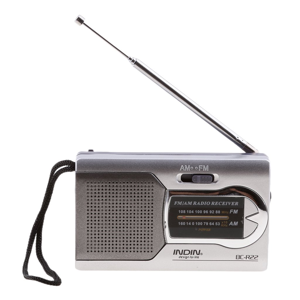 Dovewill BC-R22 Mini Portable Battery Operated AM FM Radio with Best Reception