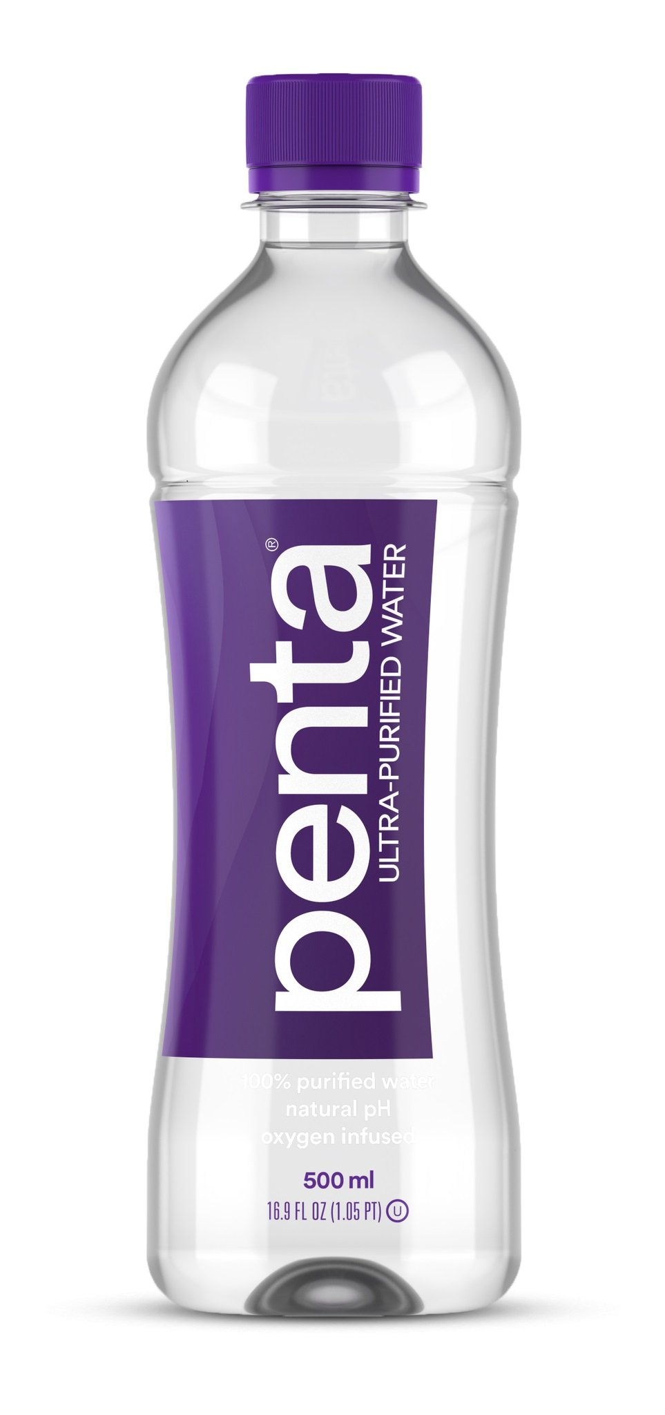 Penta 100% Ultra Purified Bottled Water, Natural pH Hydration, (13 Step Purification Process), 16.9 Fl Oz (Pack of 24)