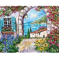 Original Oil Painting -- Italy Flowers-- by Karen Tarlton