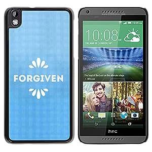 Paccase / SLIM PC / Aliminium Casa Carcasa Funda Case Cover para - BIBLE Forgiven - HTC DESIRE 816