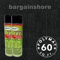 16FT x 3.75FT BLACK Speaker Box Carpet +2 Cans 777 Fabric Spray Glue