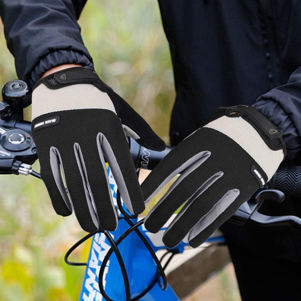 Fahrradhandschuhe M/änner Frauen mit Touchscreen Mountainbike Handschuhe f/ür Herren und Damen Radsport Handschuhe Vollfinger rutschfeste und Sto/ßd/ämpfende Gepolsterte