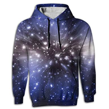 cc495c118596 Galaxy Stars 3D Men s Novelty Cute Long Sleeve Hoodie Digital Print ...