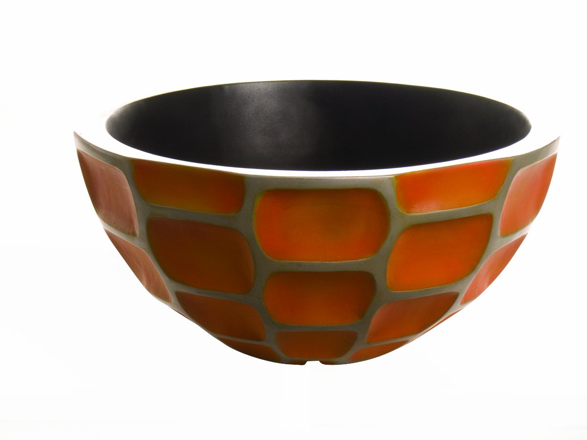 Laguna Urban Water Garden Bowl, Orange Honeycomb