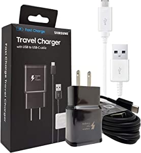 Official Samsung Adaptive Fast Charging Wall Charger -W/Micro to TYPE C Adapter For Galaxy S6,S7,S8,S9,+,Edge,Note5,Note8,Note9 (US Retail Packing)