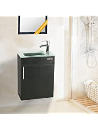 Eclife 18.4u0027u0027 Bathroom Vanity Combo , Modern Design Wall Mounted Vanity Set  With Terpered
