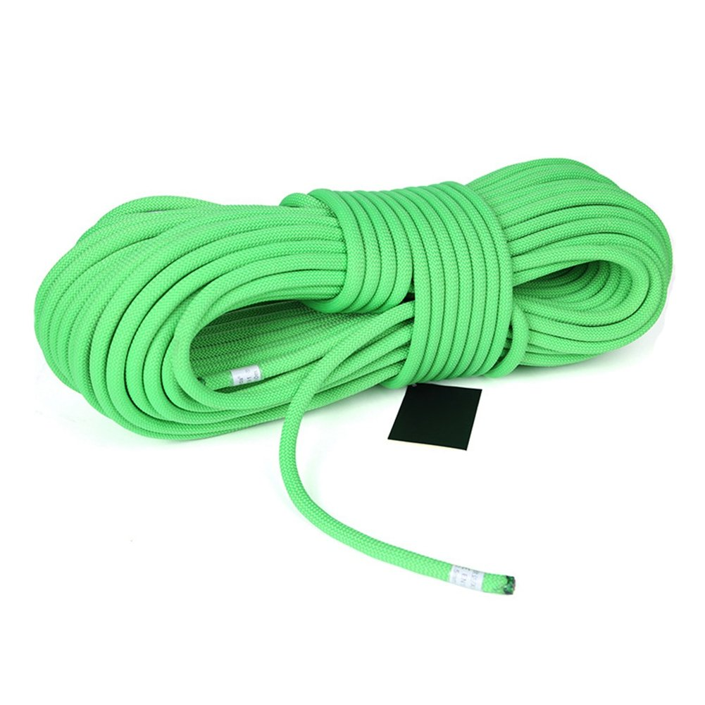 MaxS Climbing Auxiliary Rope Static Rope Safety Rescue Rope Diameter 10mm (Green, Length:30Meter)