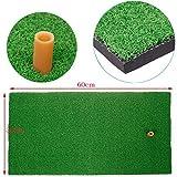 SINEDY 12''x24'' Residential Practice Indoor Putting Green Rubber Tee Holder Backyard Golf Mat