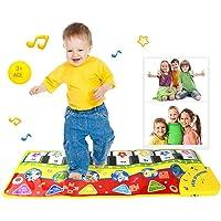 Teclado de juegos Pawaca, alfombra gimnasio para música y cantar, bebé o niño pequeño, piano de suelo, alfombra divertida de juegos, manta para niños