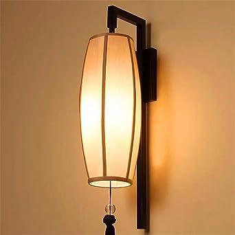 SADASD Luz de pared paño nuevo chino dormitorio cabecera de hierro Estufa de pared escalera Pasillo