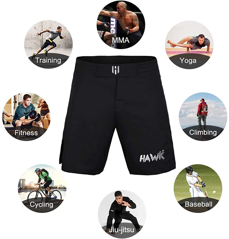 MMA BJJ Unisex Cross Training Gym Boxing Grappling Kickboxing Muay Thai Running Wrestling No Gi Workout Athletic Shorts: Clothing