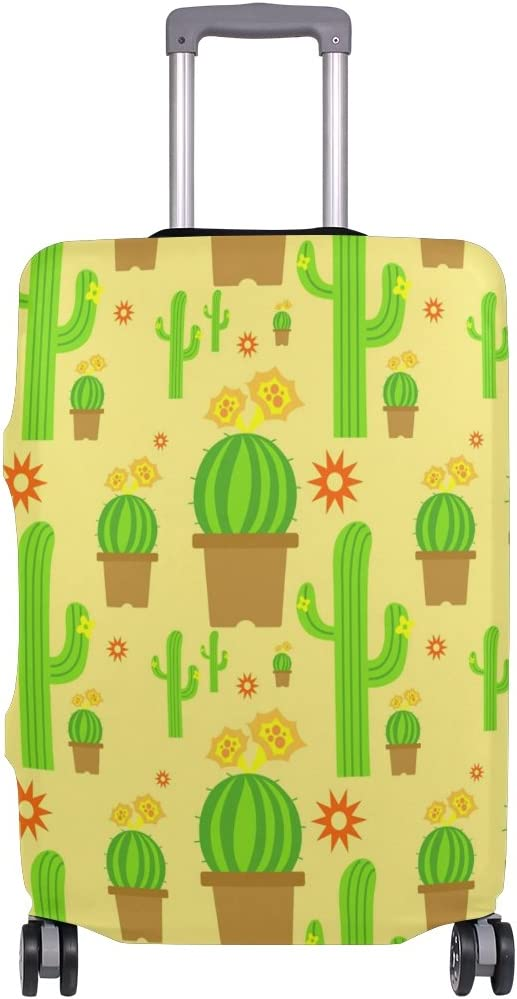 Luggage Protective Covers with Cactus Pattern Washable Travel Luggage Cover 18-32 Inch