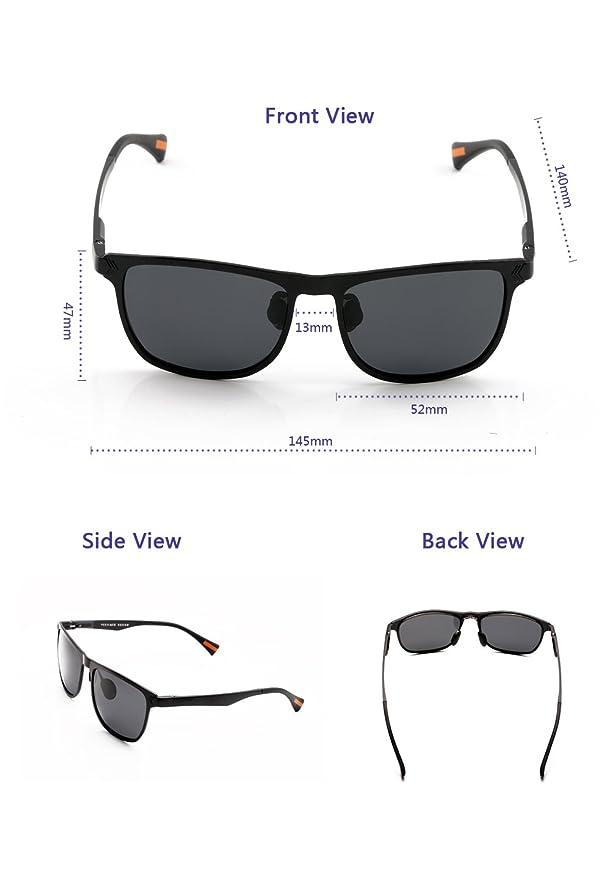 Frame Polarized Yougarr Wayfarer Mens Group For Sunglasses Metal PiXZuOkT
