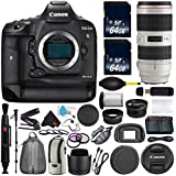 6Ave Canon EOS-1D X Mark II DSLR Camera International version (No Warranty) Canon EF 70-200mm f/2.8L IS II USM Lens + Battery Grip + Wildlife and Sports Photography Bundle
