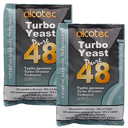 Alcotec 48-Hour Turbo Yeast, 135 Grams (Pack of 2) (Best Yeast For Distilling)