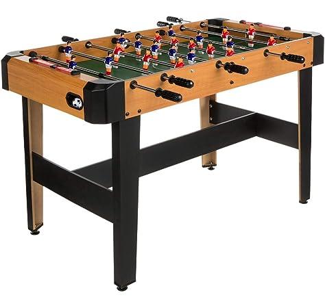 ColorBaby - Futbolín madera CBGames, Deluxe, color azul (43312): Amazon.es: Juguetes y juegos