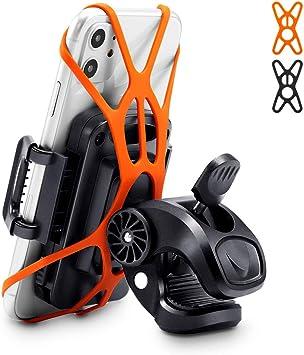 ESR Soporte teléfono para Bicicleta, Soporte Giratorio 360 Grados para bicics/Motos. Compatible iPhone 11 Pro MAX,iPhone 8,Huawei P30 Pro,Samsung S10,GPS y Otros. Ajustable de 7,4cm a 10,9cm. Negro.: Amazon.es: Deportes y aire