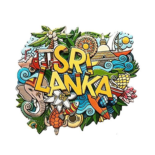 Gtnine Resin Fridge Magnets Sri Lanka Refrigerator Magnets Office Magnets For Funny Decor Home Decor Car Decor Refrigerator Decor