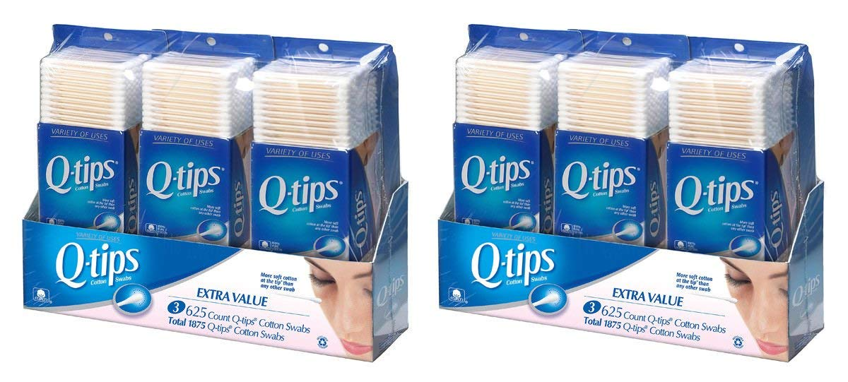 Q-Tips Cotton Swabs Extra Value Pack, 1875 Swabs (2 Pack)