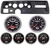 Classic Dash 104700911 Chevelle SS Black Dash Carrier Panel w/ Auto Meter Sport Comp II Gauges TR