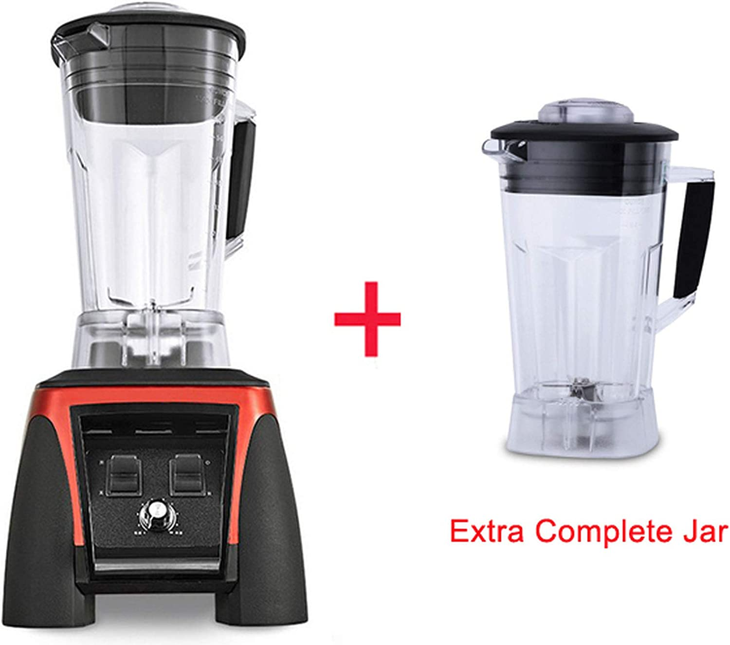 220V/110V 3HP BPA FREE 2L 2200W professional smoothies power blender food heavy duty mixer juicer food processor,RED EXTRA JAR