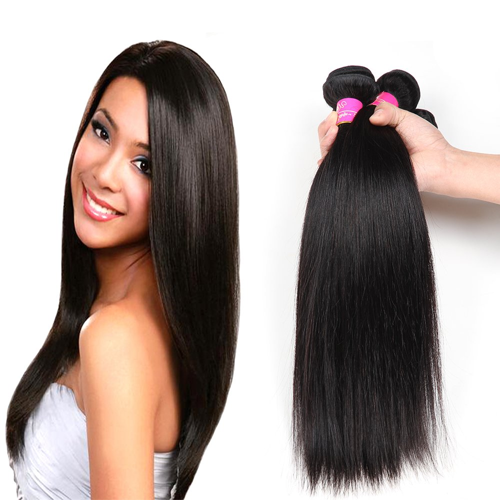 Amazon brazilian straight hair 3 bundles 7a 100 unprocessed amazon brazilian straight hair 3 bundles 7a 100 unprocessed remy human hair bundles weave natural color 95 100gpc mixed length 10 12 14 pmusecretfo Choice Image