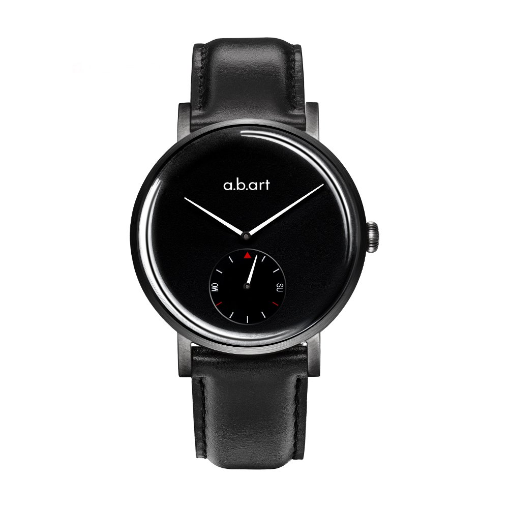 abart Men's Watches ONE41-225-1L Night Version Black Dial Watches for Men Smart Watch (Lido (Oily Cowhide)-Black)