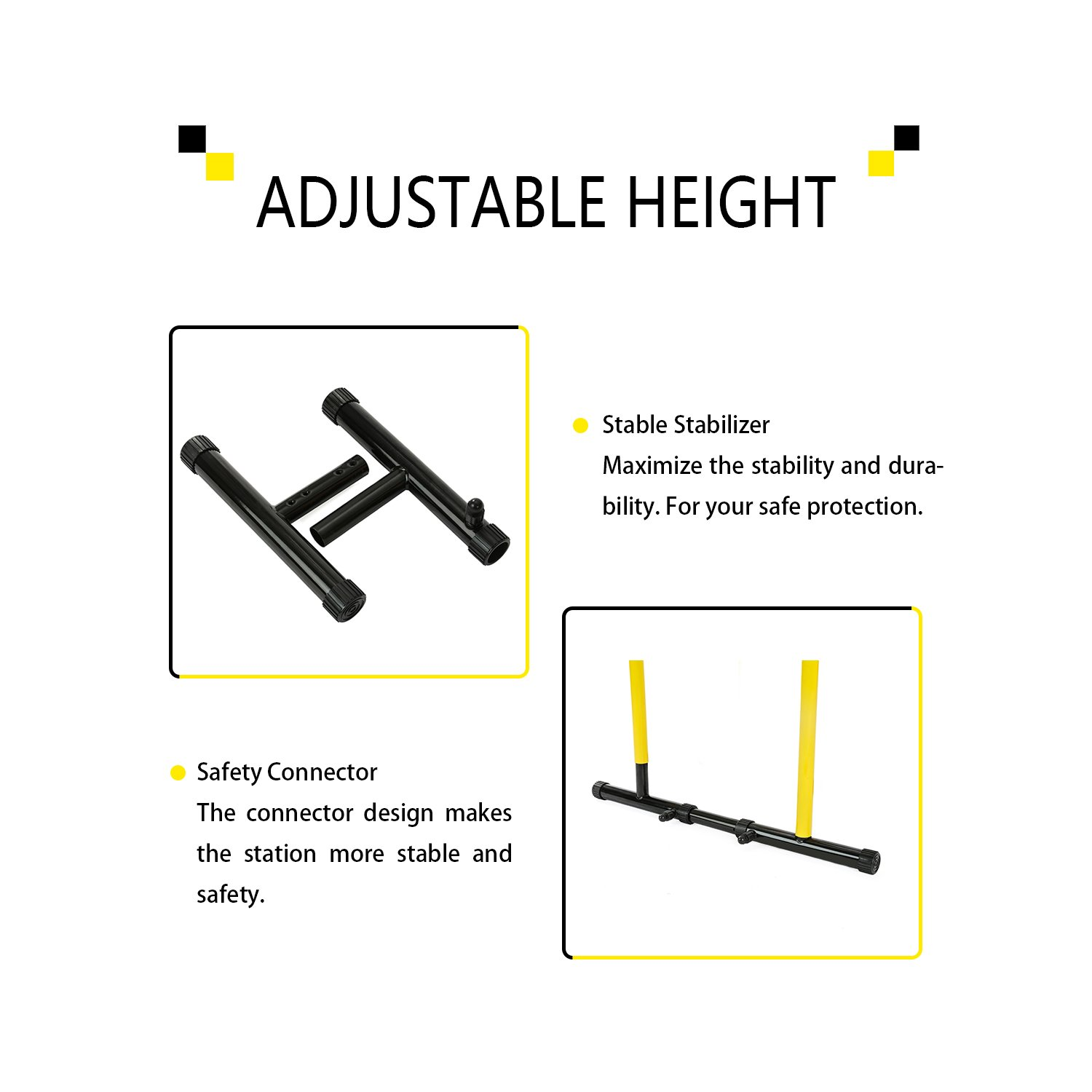 RELIFE REBUILD YOUR LIFE Dip Station Functional Heavy Duty Dip Stands Fitness Workout Dip bar Station Stabilizer Parallette Push Up Stand by RELIFE REBUILD YOUR LIFE (Image #5)