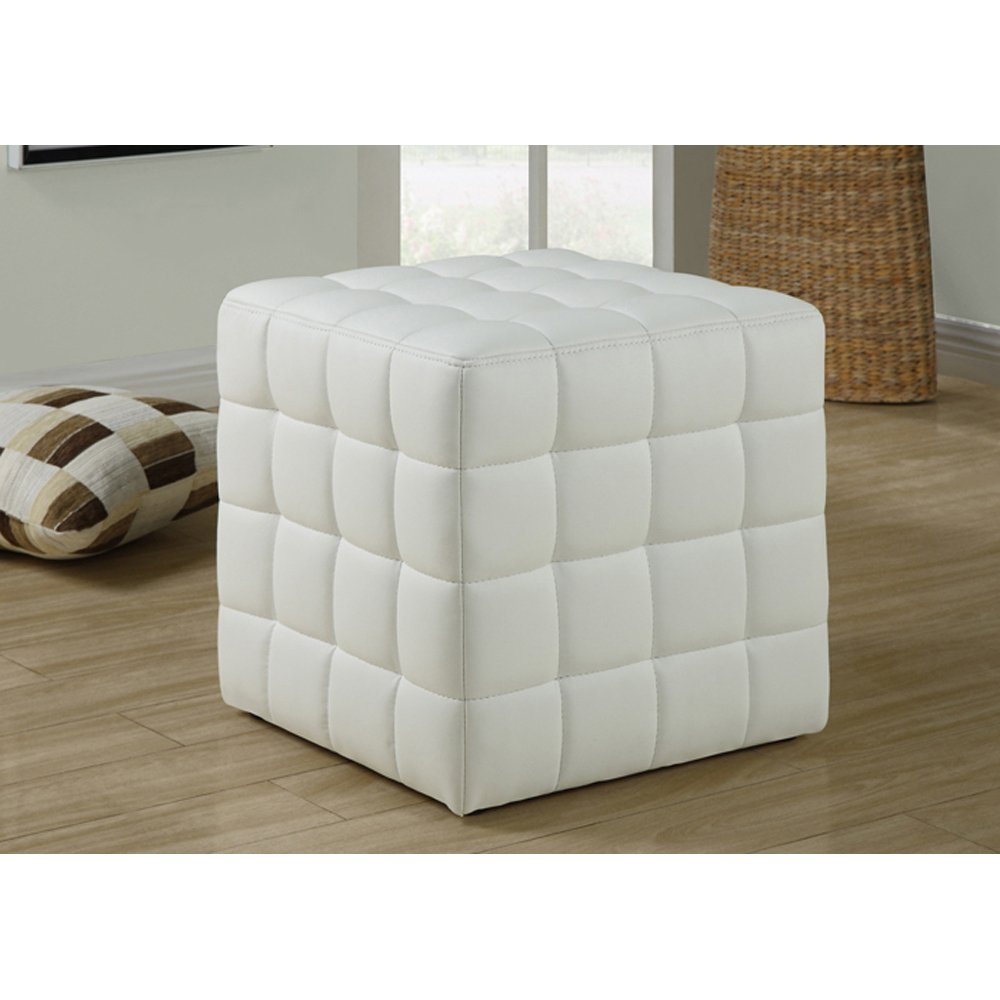amazonca ottomans  living room furniture home  kitchen - monarch specialties leatherlook ottoman white
