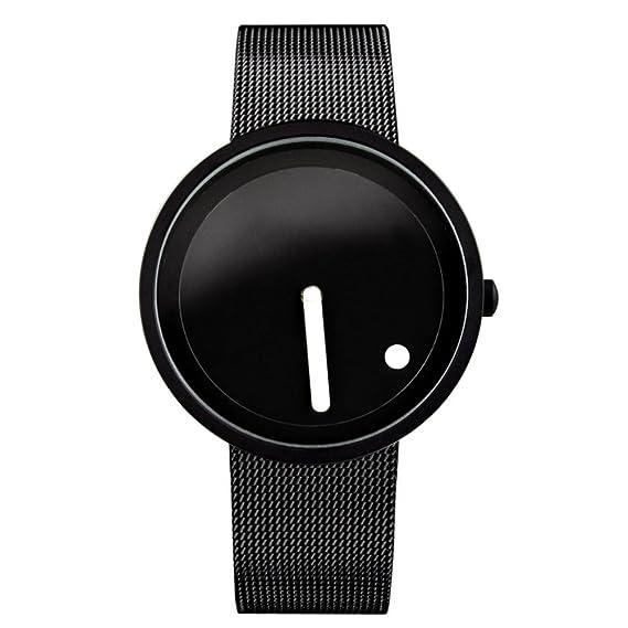 Diseño creativo/ relojes minimalistas puntos verticales-A: Amazon.es: Relojes