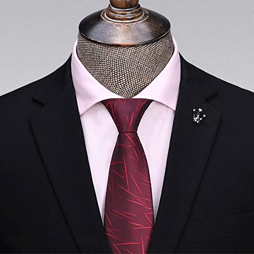 "New Polyester Men/'s 1.5/"" skinny Neck Tie only solid formal wedding work red"