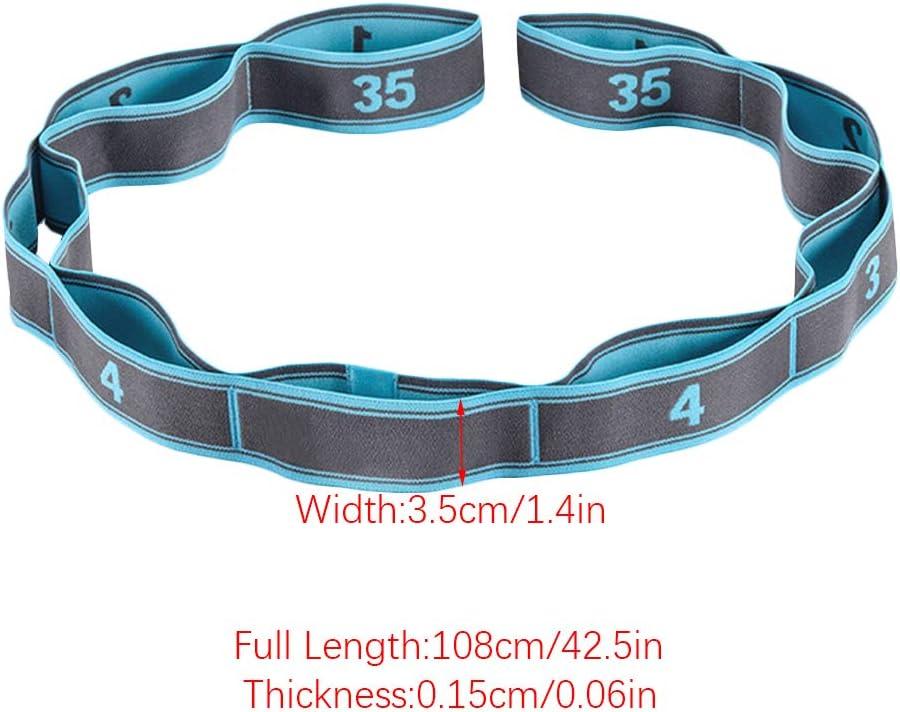 Pilates Fitness Training K/örperliche Therapie Stretchg/ürtel Damen Yogagurt Gymnastik-Gurt mit 9 Schlaufen Stretchgurt Elastik Grip Loops Ideal f/ür Hei/ßes Yoga