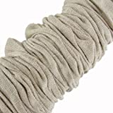 Creative Co-op Chandelier Cord Cover, 6' Length, Natural Cotton Color