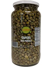 Sanniti Spanish Non Pareil Capers in Vinegar and Salt Brine - 33.5 oz