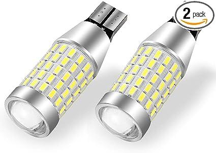 12-24V YITAMOTOR 921 LED Reverse Light Bulbs White T15 912 906 LED Replacement Bulb for Backup Lights 2000 Lumens Super Bright 360-Degree Shine 90-EX Chipsets 3014 SMD LED CANBUS Error Free