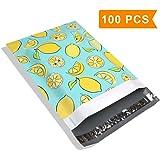 #4 10x13 Lemon Designer Poly Mailers Shipping Envelopes Boutique Custom Bags 2.35MIL by Mailer Plus 100pcs