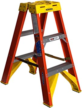 Werner T6203 300 Pound Duty Rating Fiberglass Twin Stepladder 3 Foot Amazon Com