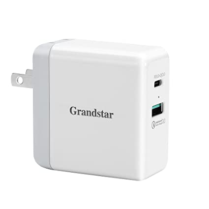 new concept 5b4f8 dc120 Amazon.com: Grandstar USB Type C Charger with USB C Power Delivery ...