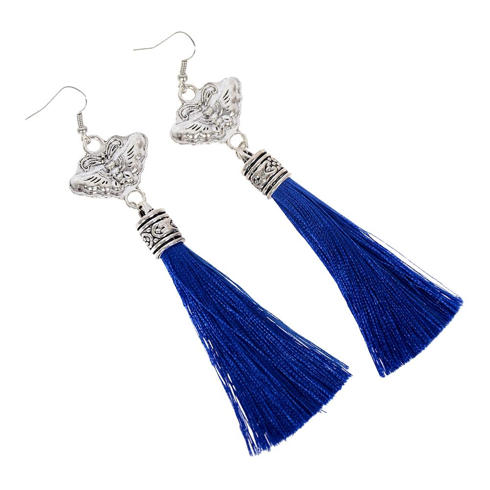 Babasee Womens Long Tassel Dangle Earrings for Girls Butterfly Fringe Drop Earrings Elegant