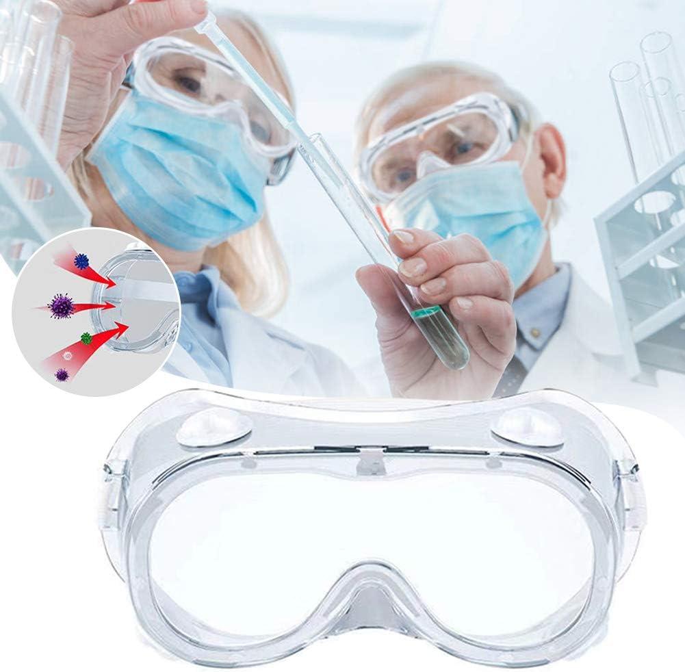Delleu Protective Safety Goggles Wide Vision Disposable Indirect Vent Anti-Fog Medical Splash Goggles