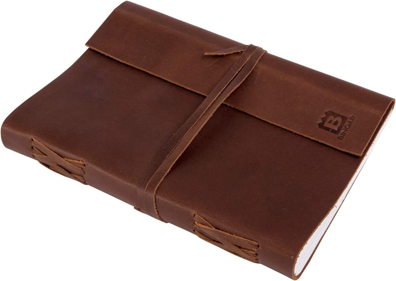 Leder Notizbuch BINOAR Mira DIN A5 Reisetagebuch echtleder Notiz buch leer Rezeptbuch Tagebuch Diary DIN A5