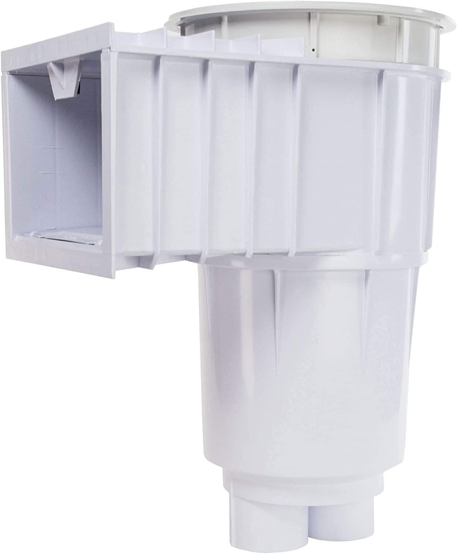 White w// White Lid /& Frame Sta-Rite 08650-1404 U-3 SwimQuip Inground Skimmer for Concrete Pools 2 Inch Slip with 1 1//2 Inch Slip Reducers