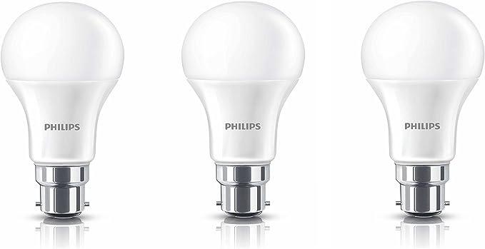 Philips Base B22 12-Watt LED Bulb (Warm White,Pack of 3) LED Bulbs at amazon