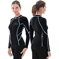 GoldFin Women's Wetsuit Top, 2mm Neoprene Wetsuit Jacket Long Sleeve Front Zip Wetsuit Shirt for Diving Snorkeling…