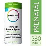 Rainbow Light - Complete Prenatal System Multivitamin 360 Tablets, Folic Acid, Iron, Probiotics