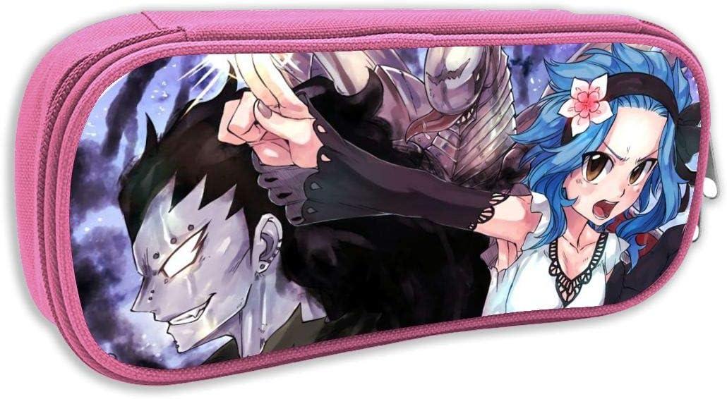 Fairy Tail-Gajeel and Levy Anime/Cartoon DIY - Estuche para lápices, monedas, cosméticos, bolsa de maquillaje, color negro, para estudiantes, niños, niñas: Amazon.es: Juguetes y juegos