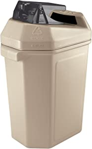 Commercial Zone 745102 CanPactor 30-Gallon Recycling Container with Can Crusher