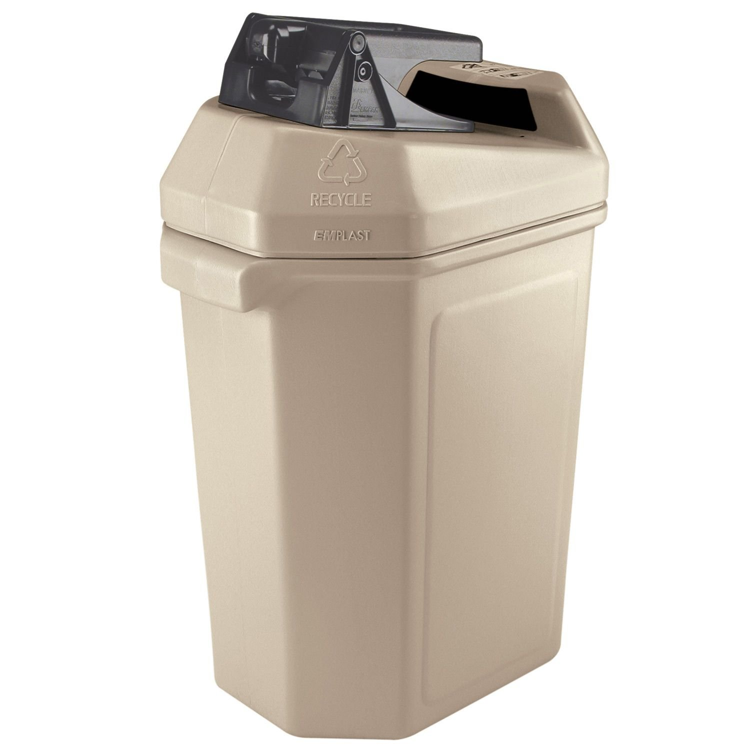 Commercial Zone Canpactor Recycling Container 30 gal.- Beige .