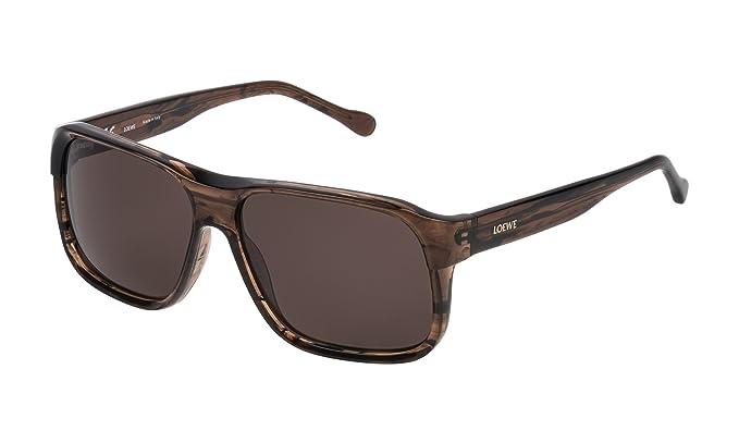 Loewe SLW964M5806XE Gafas de Sol, Shiny Streaked Brown, 58 ...