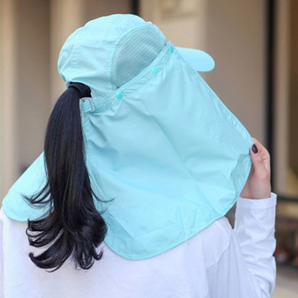 Funbase Breathable Sun Protection Cap W//Face Mask Neck Flap Hiking Fishing Hat